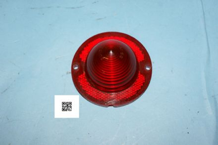 1960-1967 Corvette C1 C2 Red Rear Tail Light Lens, Used Good